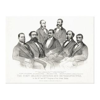 最初着色された上院議員および代表 キャンバスプリント