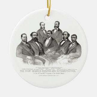最初着色された上院議員および代表 セラミックオーナメント