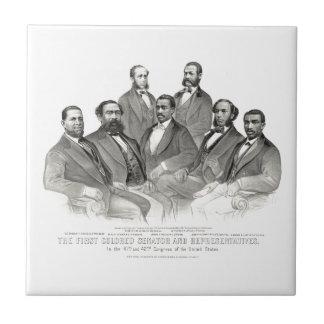 最初着色された上院議員および代表 タイル