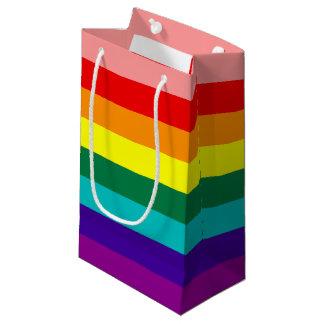 最初虹のプライドの旗 スモールペーパーバッグ