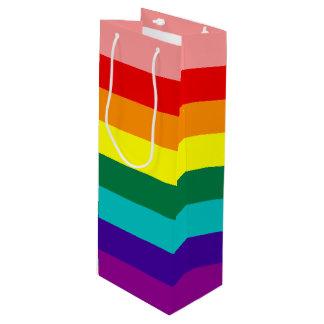 最初虹のプライドの旗 ワインギフトバッグ