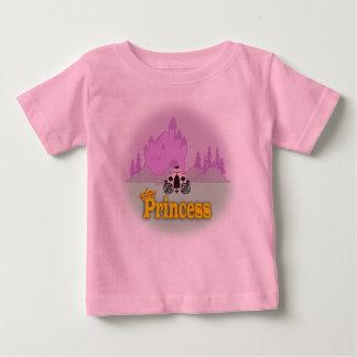 最初誕生日のおとぎ話のプリンセス ベビーTシャツ