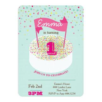 最初誕生日の招待状 カード