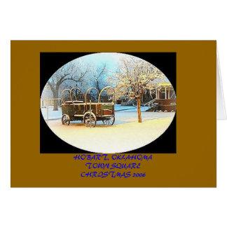 最初雪、ホーバート、オクラホマの町SQUARECHRISTM… カード