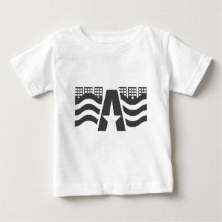 最初音名-星との都市景色 ベビーTシャツ