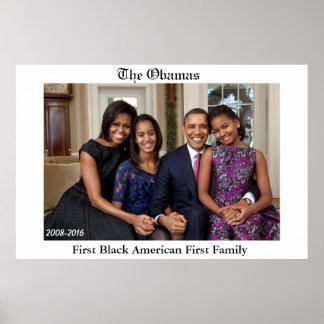 最初黒いアメリカ人最初家族ポスター ポスター