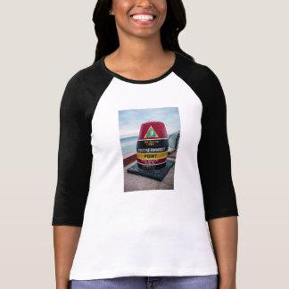 最南ポイント女性3/4枚の袖のRaglanのワイシャツ Tシャツ