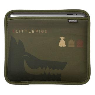 最小主義のおとぎ話| 3匹の小さいブタ iPadスリーブ