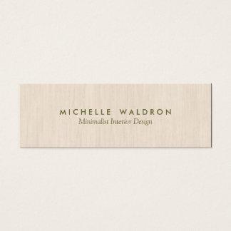 最小主義のインテリア・デザイナーのシンプルな木製の一見 スキニー名刺