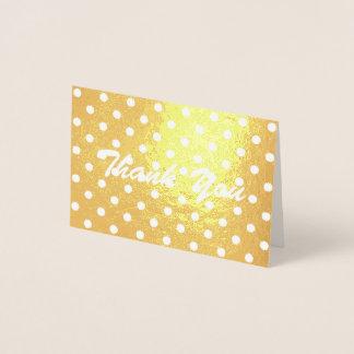 最小主義のガーリーな水玉模様は感謝していしています 箔カード