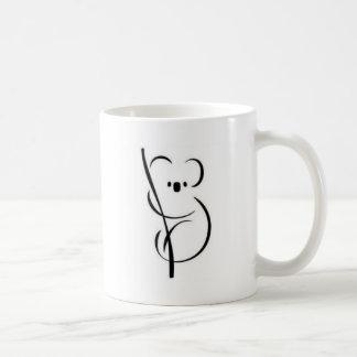 最小主義のコアラ コーヒーマグカップ