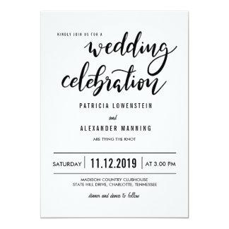 最小主義のシンプルな結婚式のお祝いのタイポグラフィ カード