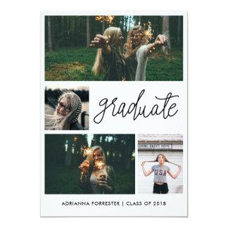最小主義のシンプルの卒業生の原稿 の4写真 カード