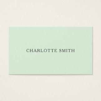 最小主義のパステル調の緑のモダンな名刺 名刺