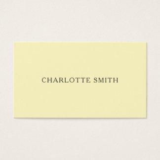 最小主義のパステル調の黄色くモダンな名刺 名刺