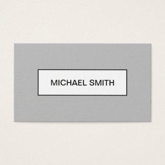 最小主義のモダンな専門の灰色の名刺 名刺