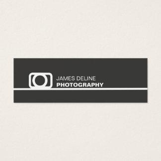 最小主義の灰色の陰刻アイコン写真撮影 スキニー名刺