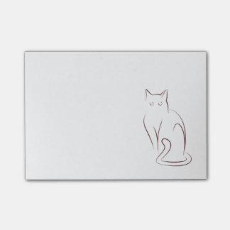 最小主義の猫 ポストイット