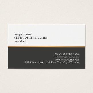 最小主義の白い灰色の模造のな銅ラインコンサルタント 名刺