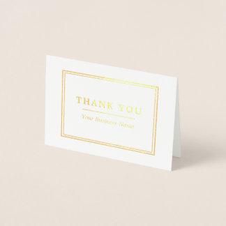 最小主義の白及び金ゴールドは感謝していしています 箔カード
