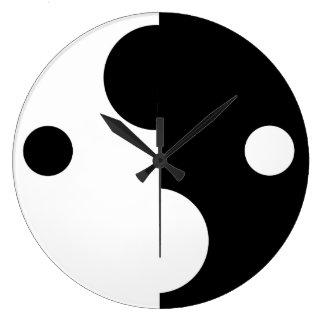 最小主義の白黒抽象的な柱時計 ラージ壁時計