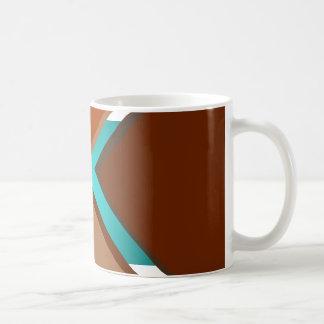 最小主義の芸術のファッションのターコイズの秋は5つを着色します コーヒーマグカップ