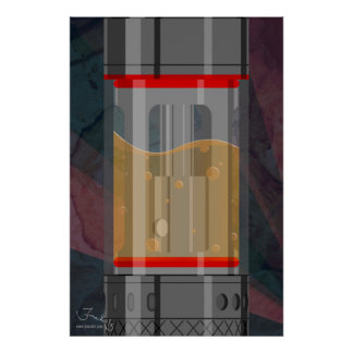 最小主義の補助的なタンク ポスター