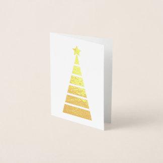 最小主義の金ゴールドはクリスマスツリーを飾りました 箔カード