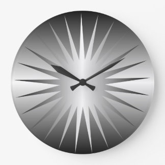 最小主義の銀製の星の柱時計 ラージ壁時計