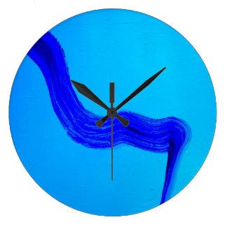 最小主義の青い時計 ラージ壁時計