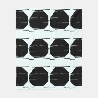 最小主義の黒く写実的な毛布 フリースブランケット