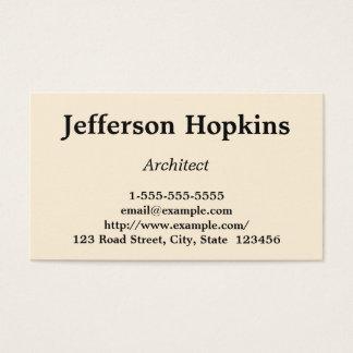最小主義及びシンプルな建築家の名刺 名刺