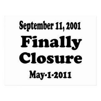 最後に閉鎖9月11日 ポストカード