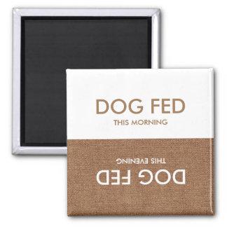 最後に食べ物を与えられる犬… 夕べ及び朝の磁石のメモ マグネット