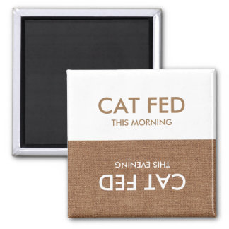 最後に食べ物を与えられる猫… 夕べ及び朝のメモの磁石 マグネット