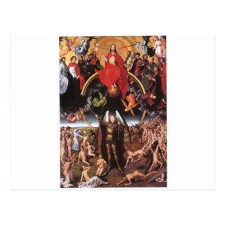 最後の判断。 ハンス・メムリンク; c. 1467-1471年 ポストカード