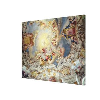 最後の判断、天井の絵画 キャンバスプリント