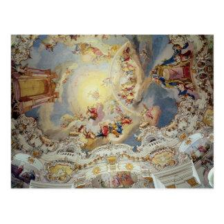 最後の判断、天井の絵画 ポストカード
