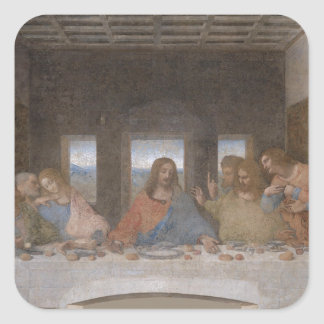 最後の晩餐のレオナルド・ダ・ヴィンチの絵画 スクエアシール