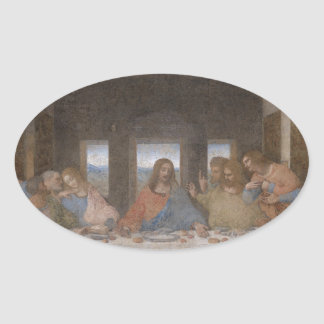 最後の晩餐のレオナルド・ダ・ヴィンチの遅い1490s壁画 卵型シール
