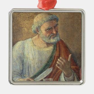 最後の晩餐1480年(フレスコ画) (61997の詳細) メタルオーナメント