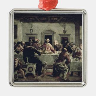 最後の晩餐(キャンバスの油) 2 メタルオーナメント