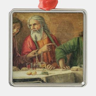 最後の晩餐、1480年(フレスコ画) (61997の詳細) 2 メタルオーナメント