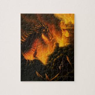 最後の防衛ファンタジーのドラゴンのパズル ジグソーパズル