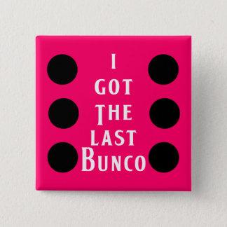 最後のBuncoの点のデザイン 5.1cm 正方形バッジ