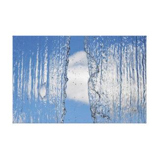 最後水ベールの自然の写真が付いている滝 キャンバスプリント