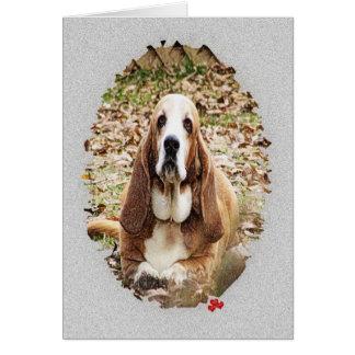 最愛のバセット犬 カード