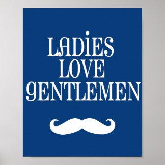 最愛の軽快な女性愛紳士の子供部屋の芸術 ポスター