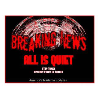 最新ニュース!!! すべては静かです ポストカード