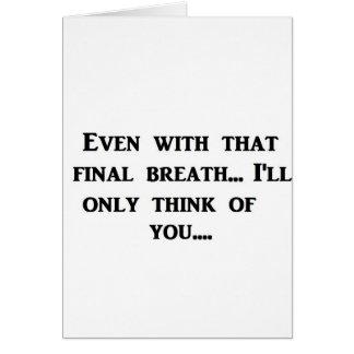 最終的な呼吸 カード